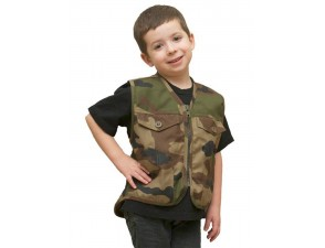 Gilet Militaire Enfant GI103 Camouflage CE Ripstop